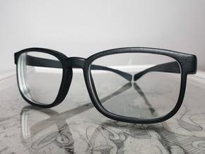 Glasses Frame (v102017) in Black Premium Versatile Plastic