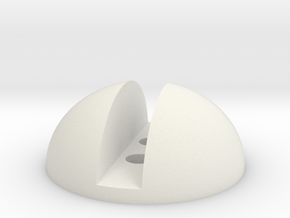 Screw Button in White Natural Versatile Plastic