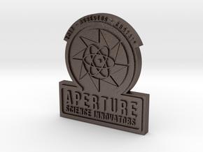 Portal 2 ® Aperture Science Innovators Pin in Polished Bronzed Silver Steel