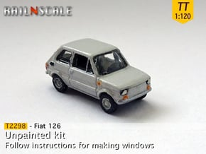 Fiat 126 (TT 1:120) in Smooth Fine Detail Plastic