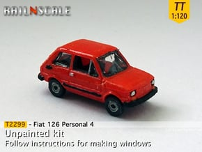 Fiat 126 Personal 4 (TT 1:120) in Smooth Fine Detail Plastic