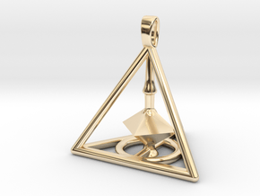 Harry Potter Deathly Hallows 3D Edition in 14k Gold Plated Brass