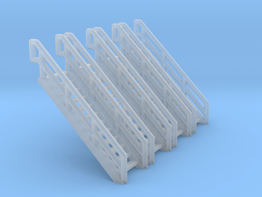 Z Scale Industrial Stairs 12 (4pc) in Smooth Fine Detail Plastic
