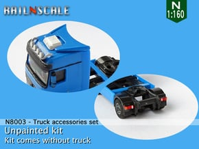 Truck accessories set (N 1:160) in Smooth Fine Detail Plastic