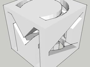 MAC cube in White Natural Versatile Plastic