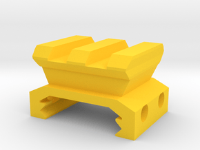 90 Degrees Picatinny Adapter (2 Slots) in Yellow Processed Versatile Plastic