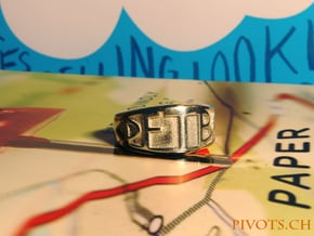 DFTBA 'Don't Forget To Be Awesome' Ring in Polished Silver