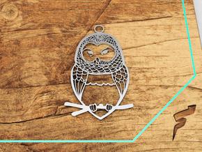 Wildlife Treasures - Owl in White Natural Versatile Plastic