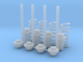 Shocks Absorbers for 205 T16 Evo2 - 1-24 kit in Smooth Fine Detail Plastic