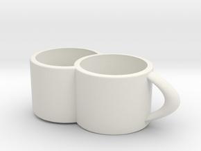 2joinCup B in White Natural Versatile Plastic: Medium