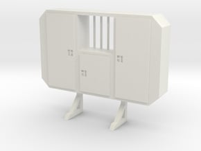1:50 Cabinet headache rack with window in White Natural Versatile Plastic