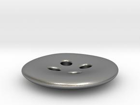 Asymmetrical designer buttons in Natural Silver