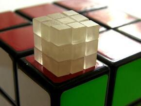 Mini 12mm 3x3x3 Cube in Smooth Fine Detail Plastic