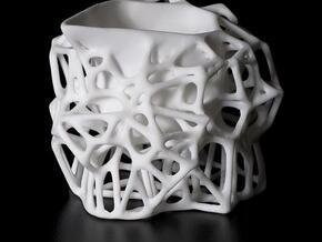 Voronoi Creamer in White Natural Versatile Plastic