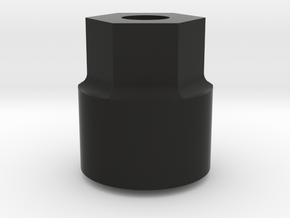 Tamiya Lunch Box Wheel Adaptor in Black Natural Versatile Plastic