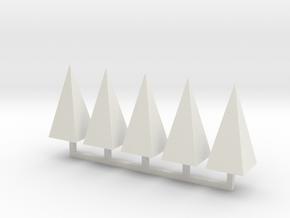 Parkhecke Buchsbaum Pyramide 1:120 in White Natural Versatile Plastic