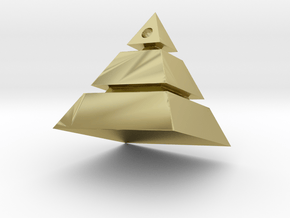 Pyramid Pendant in 18k Gold Plated Brass: Small