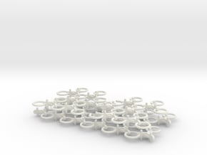 Chain Harrow Middle 1/32 - Chains in White Natural Versatile Plastic