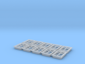 1/100th scale buildabe windows (10 pieces) in Smooth Fine Detail Plastic