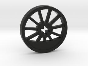 Medium Blind Thin Wheel in Black Natural Versatile Plastic