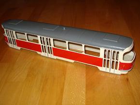 Tatra T4 0 Scale [body] in White Natural Versatile Plastic: 1:48