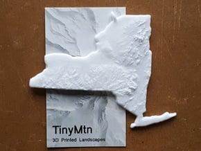 New York Christmas Ornament in White Natural Versatile Plastic