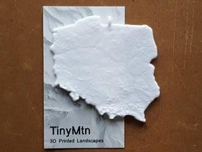 Poland Christmas Ornament in White Natural Versatile Plastic