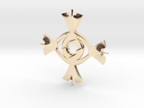 Ceridenkreuz in 14k Gold Plated Brass