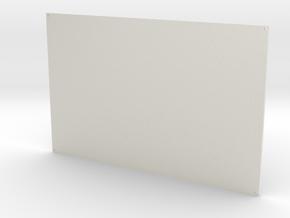 Radiator 3mm thick in White Natural Versatile Plastic