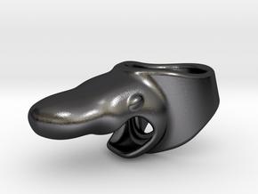 Shark Ring Bottle Opener in Polished and Bronzed Black Steel