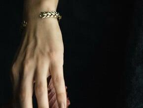 Wheat Bracelet in Polished Brass: Medium