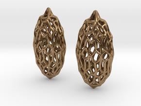 Pillow earrings in Natural Brass