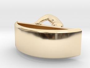 Yoga Jewelry earring 1 hoop in 14k Gold Plated Brass