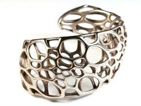 Spiral Cuff in Polished Bronzed Silver Steel: Medium