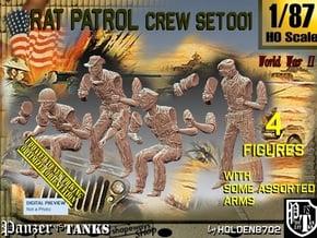 1/87 Rat Patrol Crew Set001 in Smooth Fine Detail Plastic