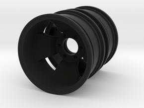Iron Cross Rim 1.9 Dually Rear  in Black Natural Versatile Plastic