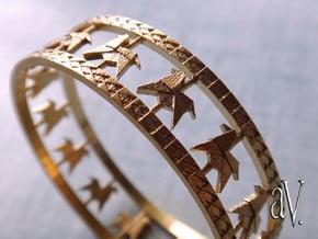 Carousel Band Bangle in Natural Brass: Medium