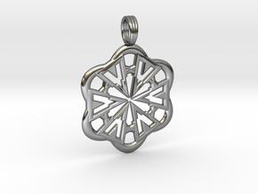 FLOWER POWER in Fine Detail Polished Silver