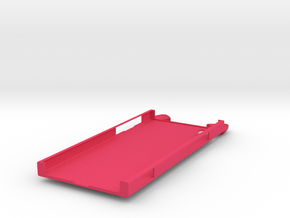 Cat Ears Tail Impression Case for Sony Xperia XA1 in Pink Processed Versatile Plastic