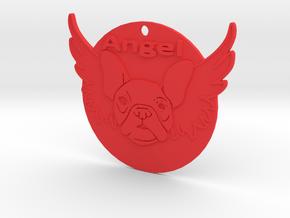 Bulldog angel in Red Processed Versatile Plastic