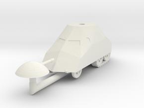 1/72 Tortuga armored car in White Natural Versatile Plastic