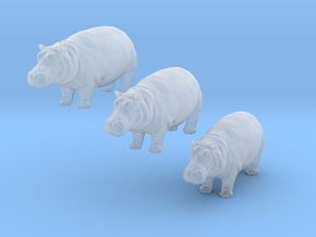 Nilpferde - 1:160 (N scale) in Smoothest Fine Detail Plastic
