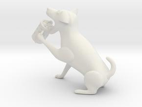 Drinking dog in White Natural Versatile Plastic
