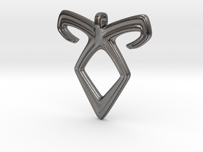 Angelic Power Pendant in Polished Nickel Steel