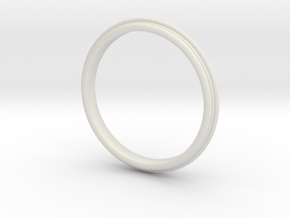 PNEUS Bangle in White Natural Versatile Plastic