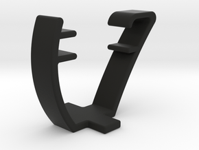 Sillouette Quick Holder in Black Natural Versatile Plastic