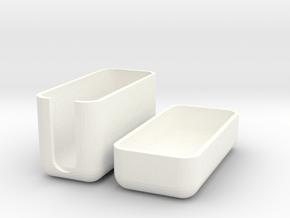 Tooth Brush Cap in White Processed Versatile Plastic