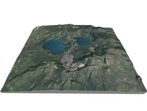 "Newberry Volcano Map, Oregon: 8""x10"" in Full Color Sandstone"