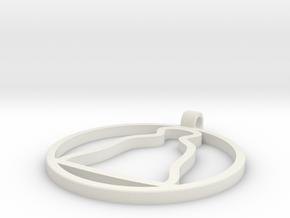 Christmas bell suspension in White Natural Versatile Plastic