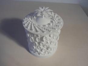 Ocean Bloom Zoetrope (old version) in White Processed Versatile Plastic